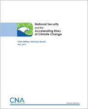 National Security and the Accelerating Risks of Climate Change Report Cover (180 pixels)
